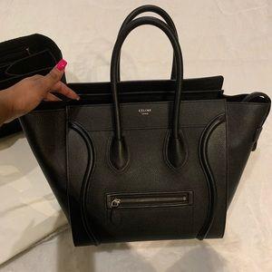 Authentic Celine Black Mini Luggage Bag
